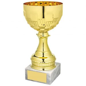 Gilt Coloured Presentation Bowl Trophy.