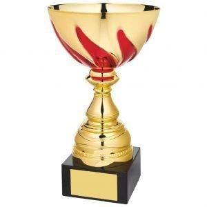 Gilt Coloured Presentation Bowl Trophy.