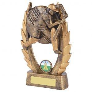 Budget Priced Cricket Batter Trophy. Ideal for batting averages or junior cricket trophies.