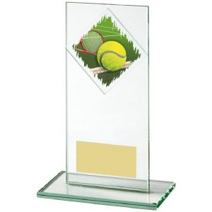Budget Glass Tennis Trophy 16cms