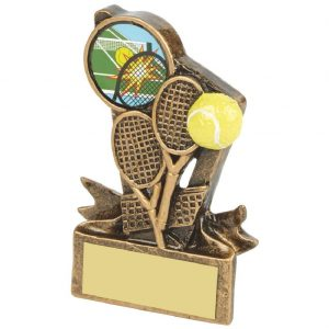 Budget Resin Tennis Trophy 9cms