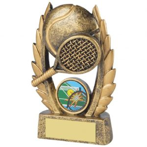 Fine Detailed Tennis Racket Trophy 12cms
