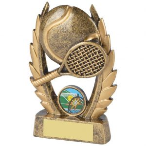 Fine Detailed Tennis Racket Trophy 13.5cms