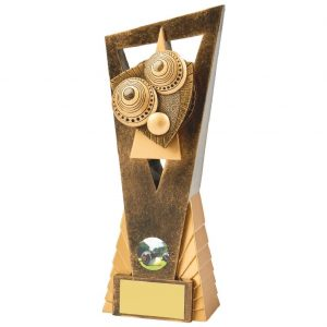 Bowls Trophy 23cms. A great for any bowls team or player and ideal for any bowls competition. perfect trophy choice for league or end season presentation night.