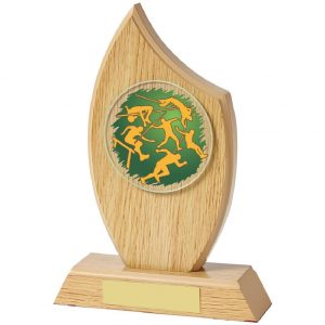 Quality Multi Sports Wood Style Trophy.