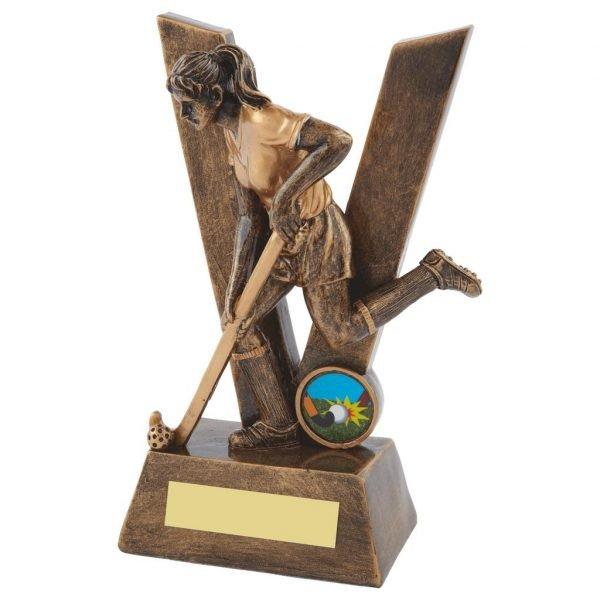 Female Victory Resin Hockey Trophy 19cms