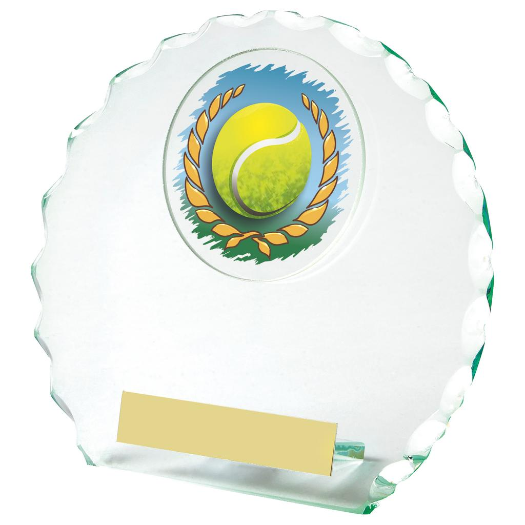 A great glass trophy range ideal for any singles or doubles tennis player, tennis competition or end of season presentations.