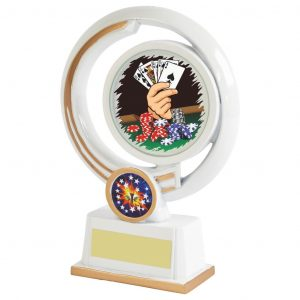Quality Playing Cards Trophy 19cms