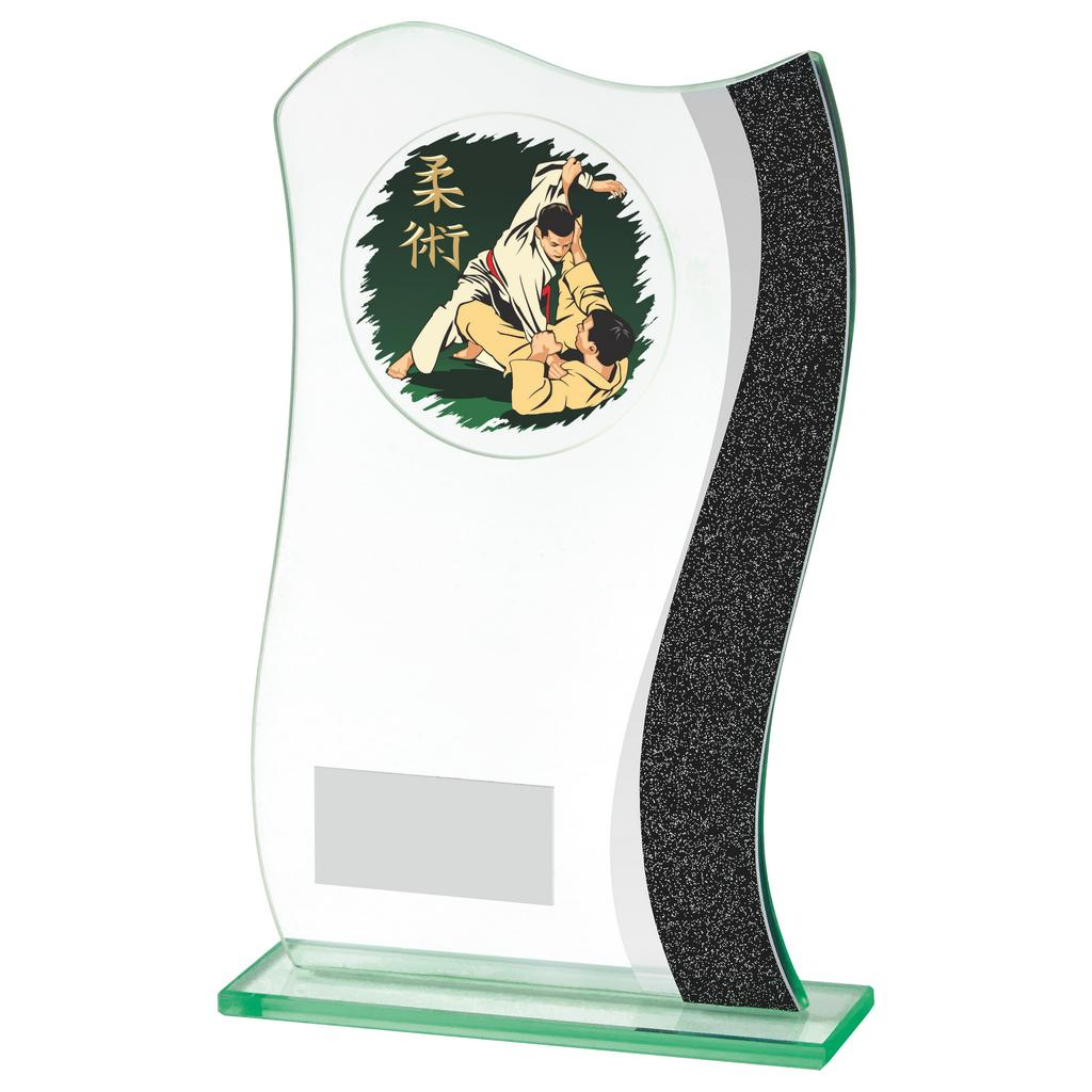 Jade Glass Martial Arts Trophy