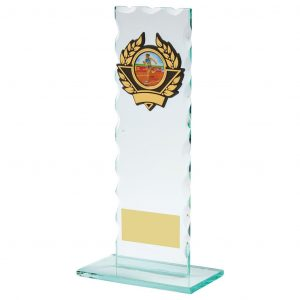 Scalloped Glass Athletics Trophy