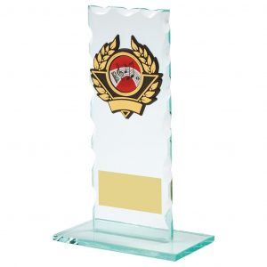 Scalloped Glass Music Trophy