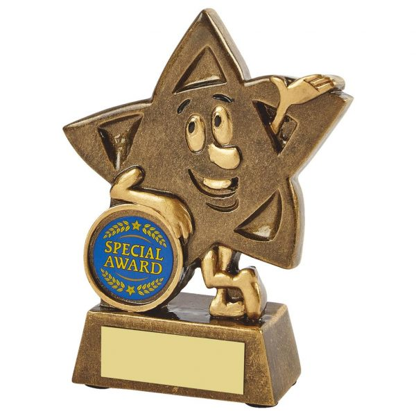Buy Now, Smiley Star Trophy 11cms. A great little fun trophy for any sporting event or pastime. Furthermore ideal for all winners and runners up and participants.