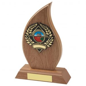 Lightwood Flame Shape Sailing Trophy
