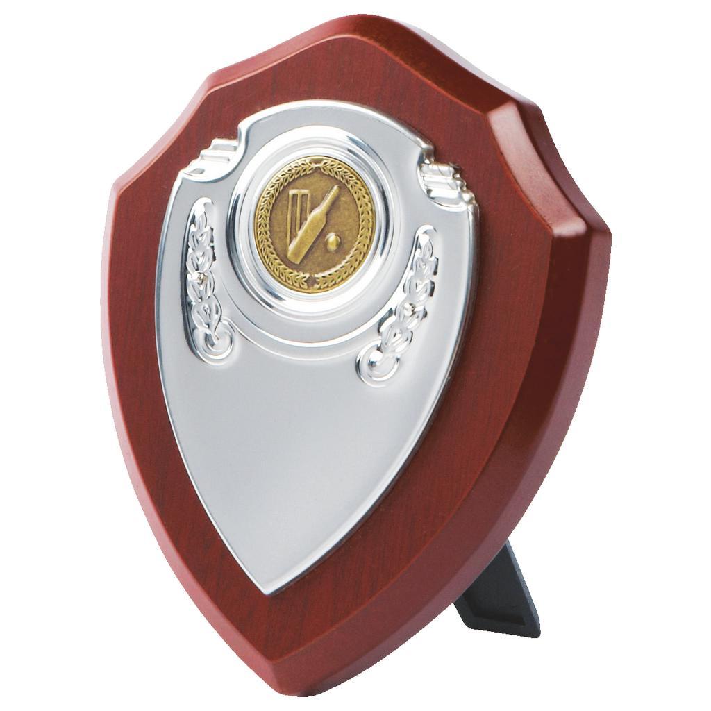 Chrome Front Replica Cricket Shield