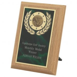 Light Oak Coloured Golf Plaque