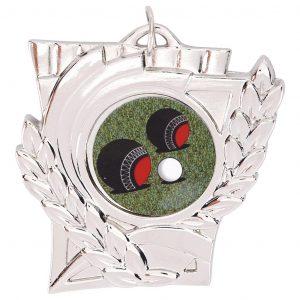 Lawn Bowls Wreath Medal