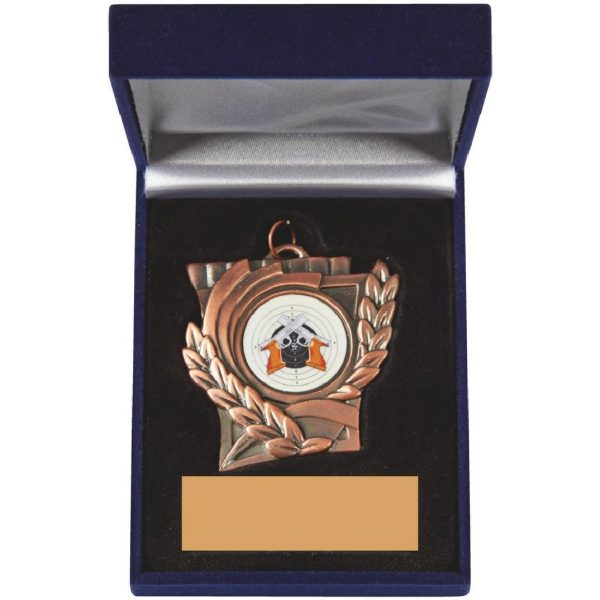 Buy today a Shooting Medal and Case. A competitively priced presentation box trophy and perfect for you