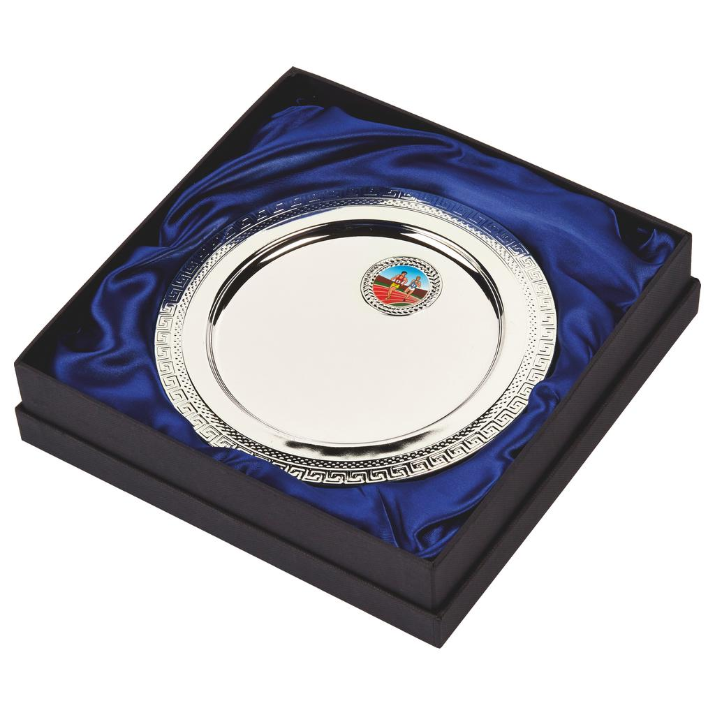Silver Plated Athletics Salver in Presentation Box