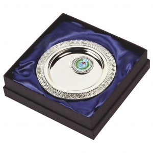 Silver Plated Curling Salver in Presentation Box