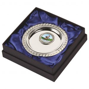 Silver Plated Cycling Salver in Presentation Box