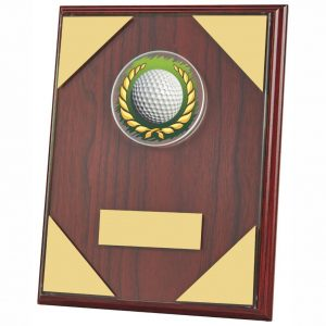 Rosewood Coloured Golf Plaque 23cms