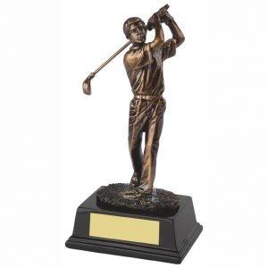 Male Golf Trophy 17cms tall
