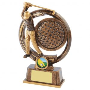 Captains Drive Golfer Trophy 25cms tall