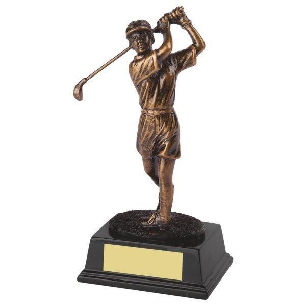 Womens Golfer Trophy 26cms tall