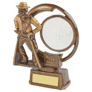 The Bandit Golf Trophy 15cms