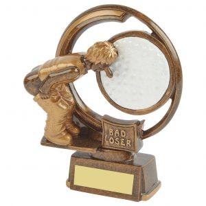 The Bad Loser Golf Trophy 15cms