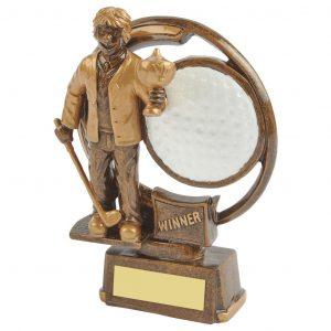 Winning Golfer Trophy 15cms
