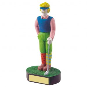 Male Golfer Trophy 18cms