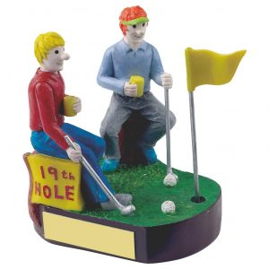 Golfing 19th Hole Trophy 11cms tall