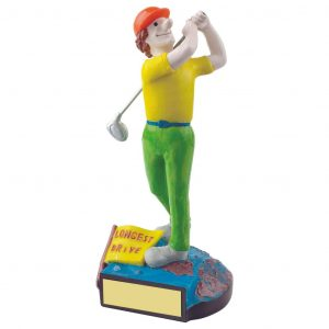 Golfing Longest Drive Trophy 18cms