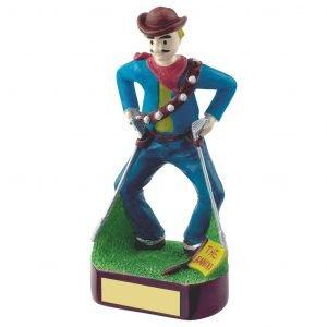 Golfing Bandit Trophy 18cms
