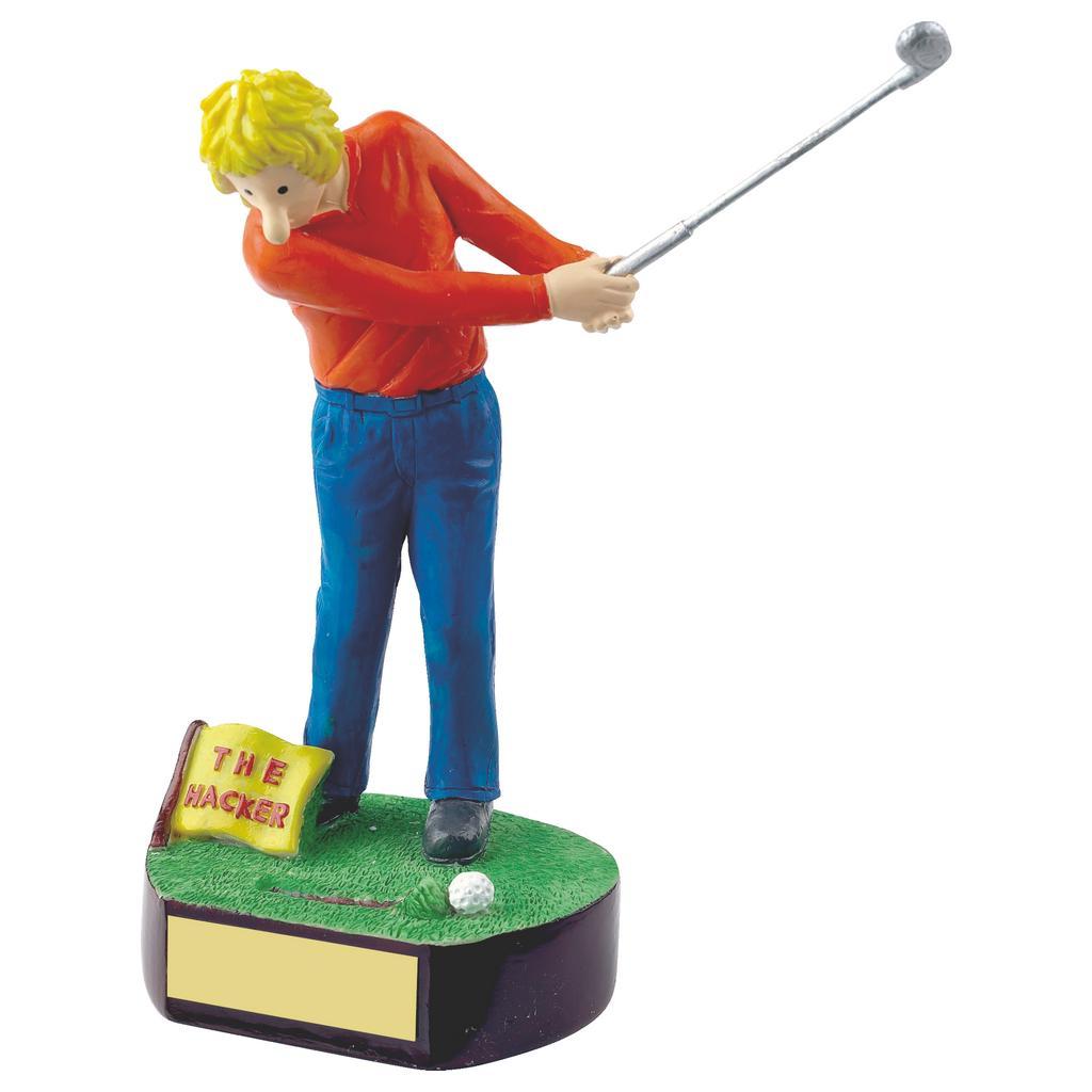 Golfing Hacker Trophy 18cms