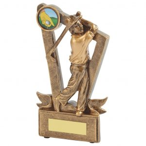 Low Priced Golfer Trophy 17cms