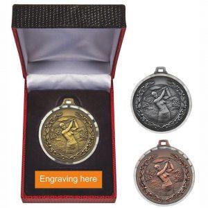 Lady Golfer Medal in Luxury Presentation Case