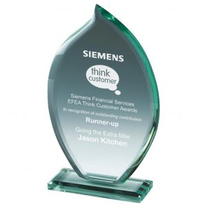 Attainment Glass Trophy 23cms
