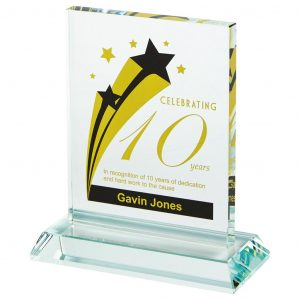 Presentation Printed Glass Trophies