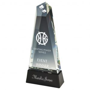 Crystal Diamond Trophy 30.5cms