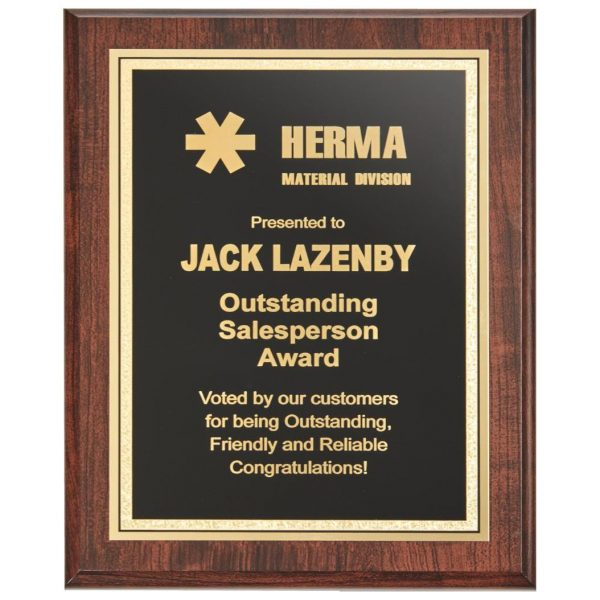 Wall Mounted Large Presentation Plaque