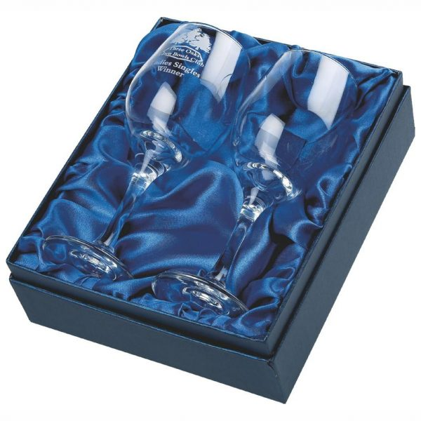 Pair of Wine Glasses in Presentation Box