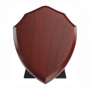 Rosewood Finish Traditional Blank Shield