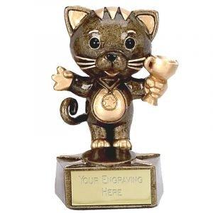 Cat Trophy 9cms tall