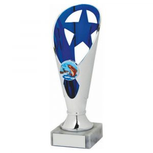 Fishing Trophy Blue Coloured