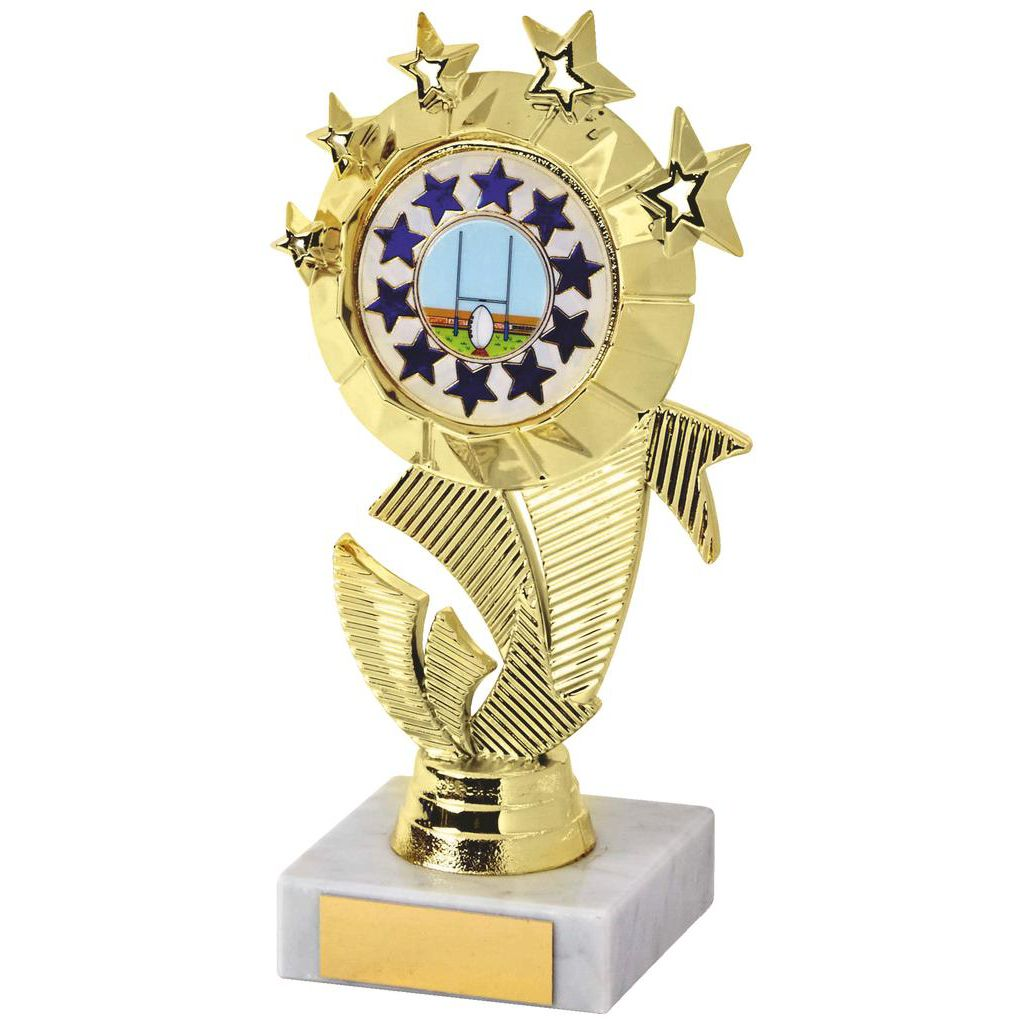 Budget Priced Multi Stars Rugby Trophy