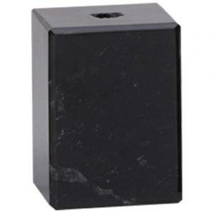 Black Marble Block. 10mm diameter centre hole pre-drilled.