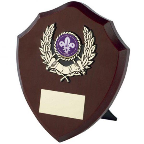 Dark Wood Coloured Shield