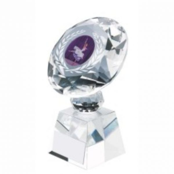 Clear Glass Dancing Trophy